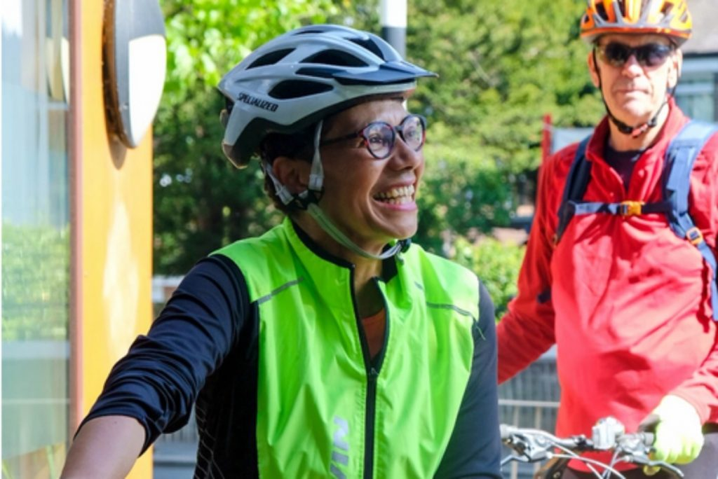Smiling cyclist